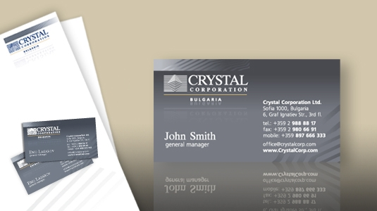 Business cards name cards business card design client crystal corporation portfolio identity business cards colourmoves