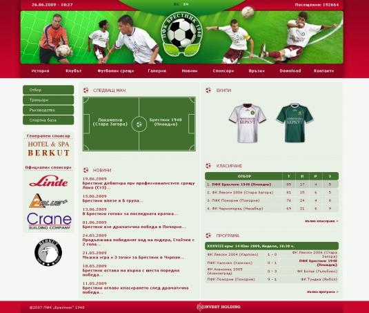 web site PFC Brestnik 1948