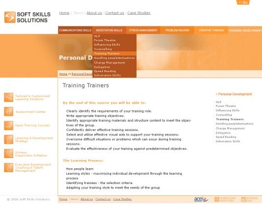 Уеб сайт Soft Skills Solutions
