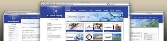 Уеб сайт КИ Инвест холдинг