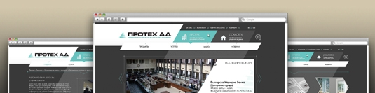 Корпоративен уеб сайт - Протех
